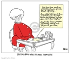 Cartoonist Ann Telnaes  Ann Telnaes' Editorial Cartoons 2006-12-22 first lady